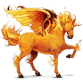 winged unicorn fire element