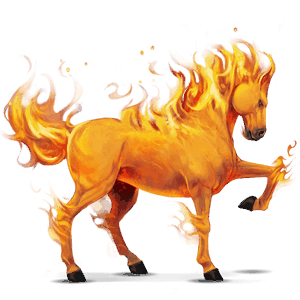 riding horse fire element