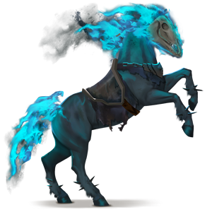 riding horse ghost rider