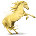 horse of the rainbow shiny yellow