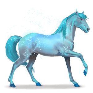 horse of the rainbow lovely blue