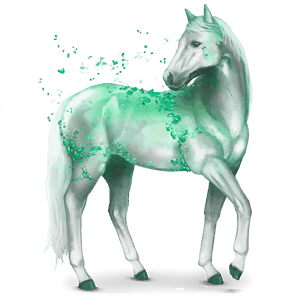 gemstone horse emerald