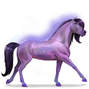horse of the rainbow brave purple