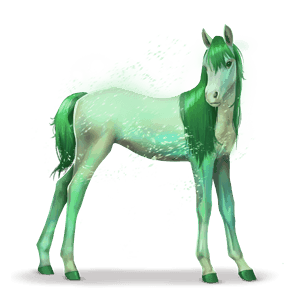 horse of the rainbow forest green